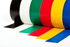 Rolls of insulation adhesive tape Royalty Free Stock Photos