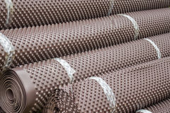 Rolls of insulation material Royalty Free Stock Photography