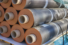 Rolls of insulation material 3 Royalty Free Stock Images