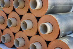 Rolls of insulation material 2 Stock Photos