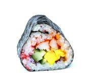 Rolls Japanese food isolated on white background Stock Image