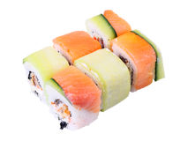 Rolls Kappa unagi side view Royalty Free Stock Photography