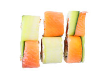 Rolls Kappa unagi top view Royalty Free Stock Photos