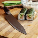 Rolls and knife Stock Photo