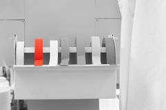 Rolls of labeling tape in laboratory Royalty Free Stock Photo