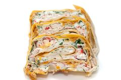 Rolls in lavash Royalty Free Stock Photography