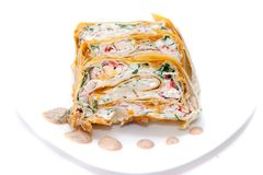 Rolls in lavash Stock Photos