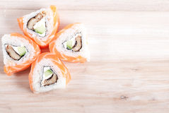 Rolls of maki Sushi Stock Images