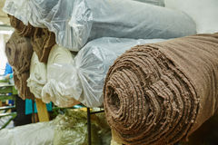Rolls of materials for footwear production Royalty Free Stock Image