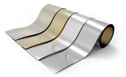 Rolls of metal foil Stock Image