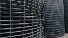 Rolls of Metallic Net , Steel Chicken Wire stock video