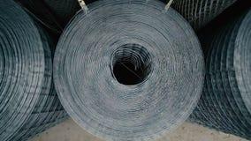 Rolls of Metallic Net stock footage