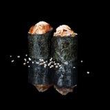 Rolls mit Aal und sause Stockbilder