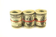 Rolls of money Royalty Free Stock Photography