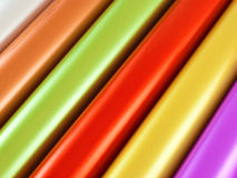 Rolls of multicolor foil Royalty Free Stock Images