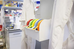 Rolls Of Multicolored Labeling Tape In Laboratory Royalty Free Stock Photography