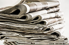 Rolls of newspapers Royalty Free Stock Photography