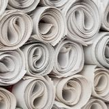Rolls of newspapers. Royalty Free Stock Photography