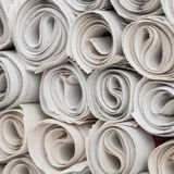 Rolls of newspapers. Royalty Free Stock Photo