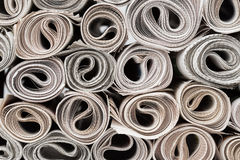 Rolls of newspapers. Royalty Free Stock Image
