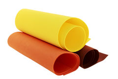 Rolls of nonwoven. Bonded fabric royalty free stock images