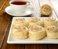 Rolls with nut filling Royalty Free Stock Image