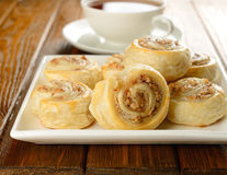 Rolls with nut filling Stock Image