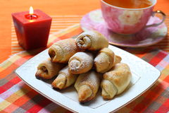 Rolls with nuts and honey Royalty Free Stock Image