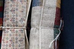 Rolls oder persische Teppiche Lizenzfreie Stockfotos