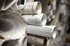 Free Rolls Of Blueprints Stock Image - 18663771