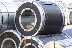 Rolls Of Cold-rolled Galvanized Steel With Polymer Coating Stock Images