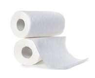 Free Rolls Of Paper Towels, Isolated On White Royalty Free Stock Photo - 53711645