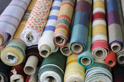 Rolls Of Textile Royalty Free Stock Photography