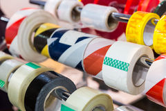 Rolls of packing scotch tapes Royalty Free Stock Photography