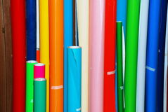 Rolls of paper. A set of colored rolls of printing paper Royalty Free Stock Images