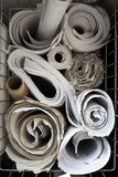 Rolls of paper Stock Photo