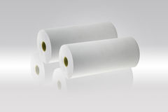 Rolls of a paper. On gray background stock photography