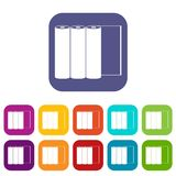 Rolls of paper icons set Royalty Free Stock Photos