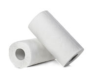Rolls of paper towels, isolated on white Royalty Free Stock Photography