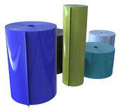 Rolls of plastic Stock Image