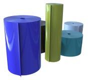 Rolls of plastic Stock Image