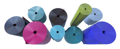 Rolls of plastic Royalty Free Stock Images