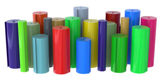 Rolls of plastic Royalty Free Stock Photos