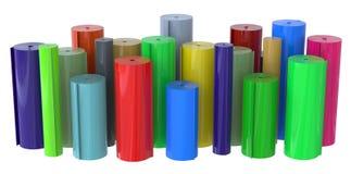 Rolls of plastic Royalty Free Stock Photos
