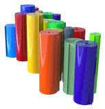 Rolls of plastic Stock Photo