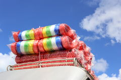 Rolls of plastic rope. Royalty Free Stock Photo