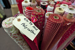 Rolls of polycotton fabric Royalty Free Stock Images