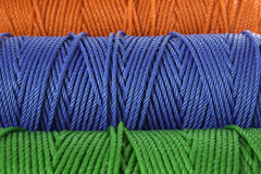 Rolls of  polyester rope - close up Stock Photography
