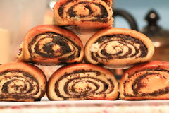 Rolls with poppy seeds Stock Image