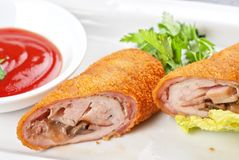 Rolls from pork meat Stock Image